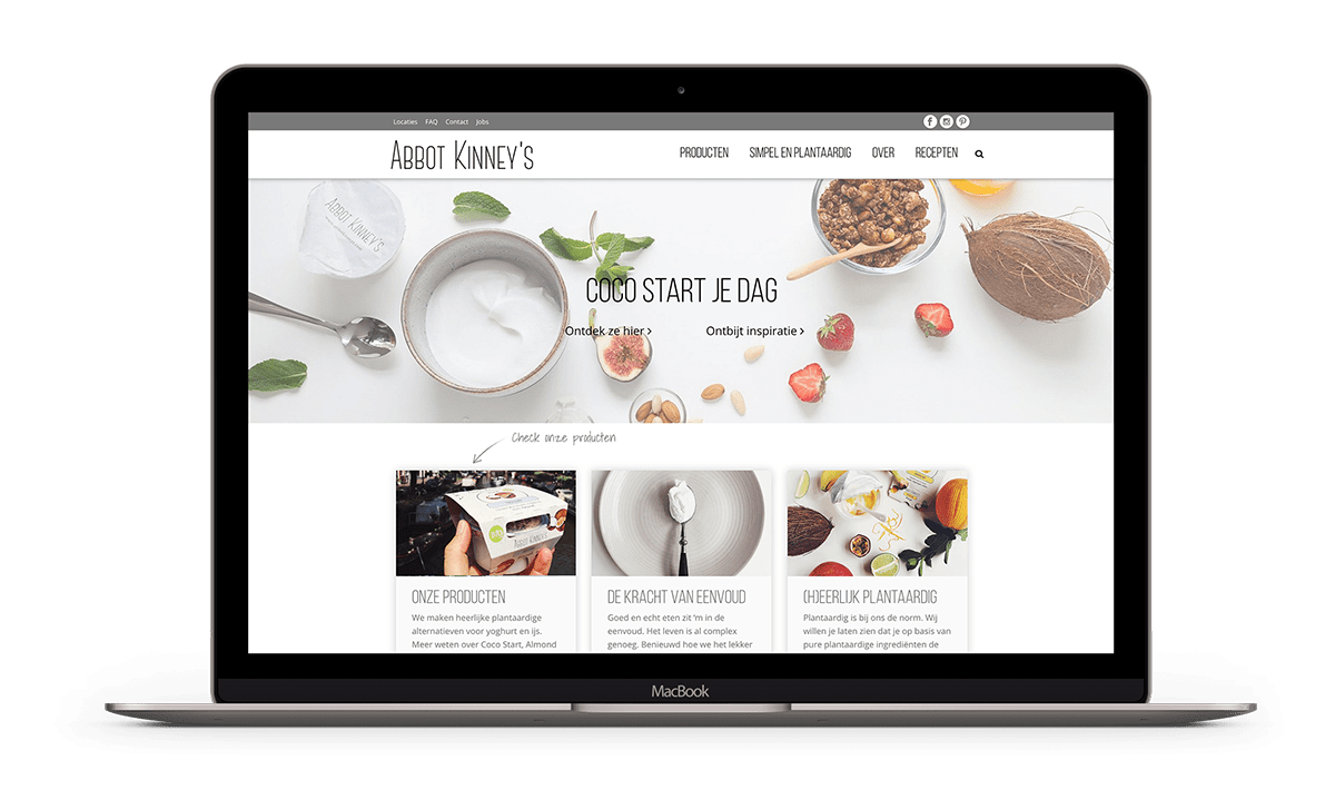 Abbot Kinney's heeft een responsieve website laten maken met Brendly webdesign in Amsterdam