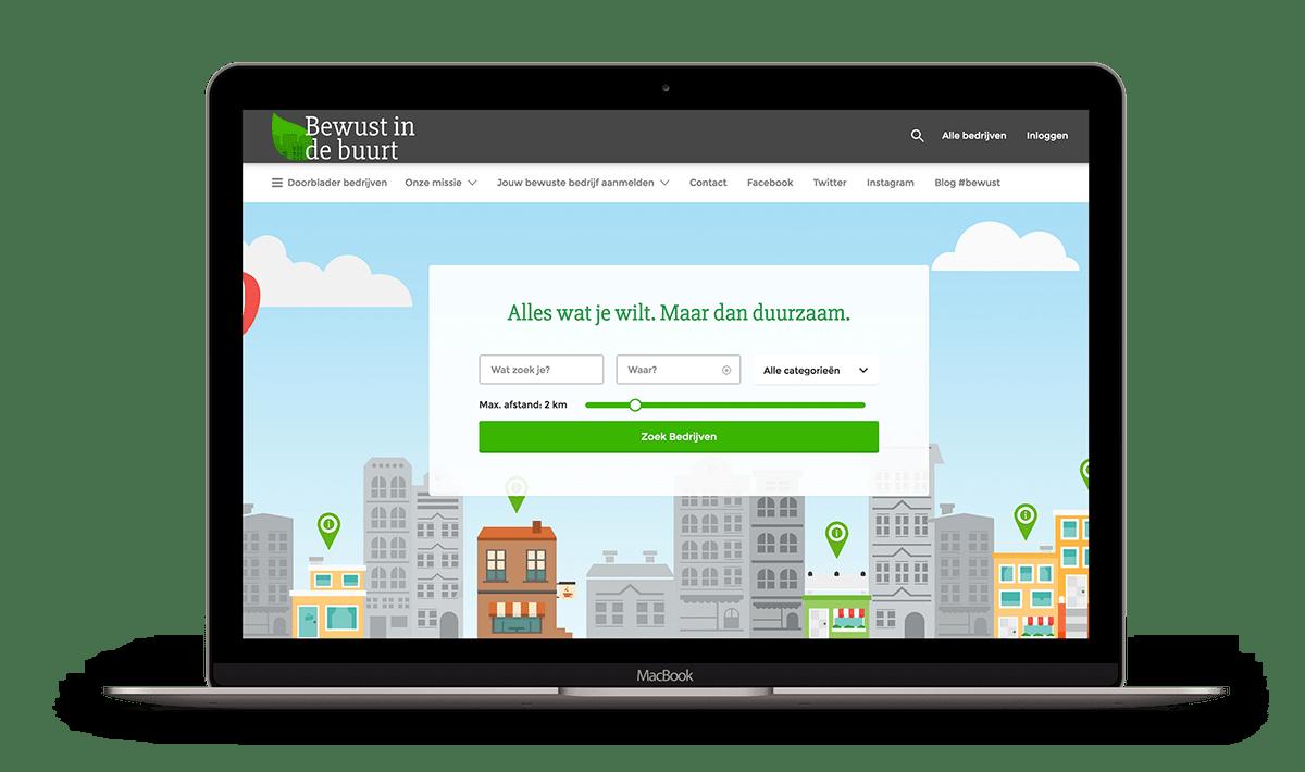 Bewust in de Buurt heeft een website laten maken in Amsterdam met Brendly webdesign